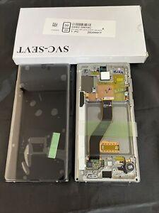 GENUINE Silver SAMSUNG SM-N970F GALAXY NOTE 10 SCREEN AMOLED LCD FRAME DISPLAY