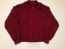 Vintage Members Only Jacket Men's Xl Burgundy Red Authentic Great Condition