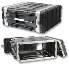 """Pulse 4U 19"""" ABS Caja de equipo de vuelo Protectora Montaje en Rack DJ PA Amp Equipo"""