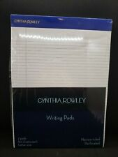 Writing Pads by Cynthia Rowley 2 Pads, 50 sheets, Letter Size