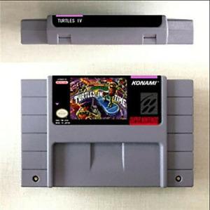 Turtles IV Turtles In Time Game Card For Nintendo SNES US Version 16 Bit English