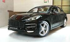 G LGB 1:24 Echelle Porsche Macan 3.0 V6 2014 Burago Voiture Miniature 21077 Noir