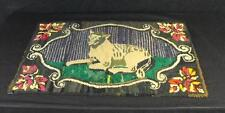 Antique Hooked Rug Reclining Lamb Lancaster Co. Pa. Early 20th Century
