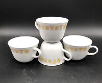 Corelle Vintage Butterfly Gold Coffee/Tea Cups set of 4 ~