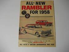 1958 Rambler Car Advertisement Brochure