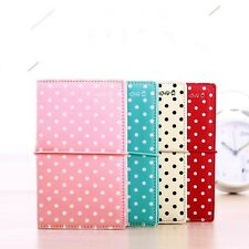 """""""Candy Dots"""" 1pc Journal Diary Lined Pocket Notebook Cute Memo Leather Cover"""