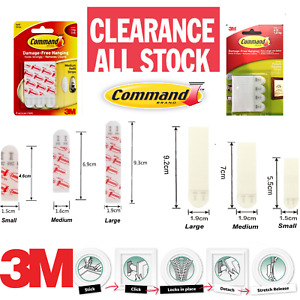 3M Command Strips Damage Free Double Sided Stickers Photos Picture Frames Poster