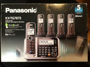 Panasonic KX-TG7875S Link2Cell Bluetooth Cellular Convergence Solution with 5...