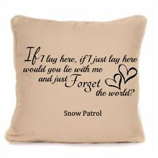 Snow Patrol If I Lay Here Chasing Cars Song Lyrics Cushion With Pad Included