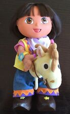 DORA The EXPLORER Talking Doll and her HORSE. EUC