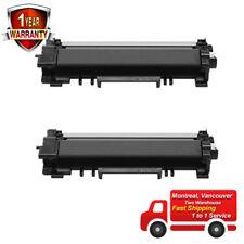 2 TN760 Black Toner Cartridge HighYield-No Chip For Brother HL-L2370DWXL L2390DW