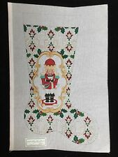 Strictly Christmas Hand-painted Needlepoint Canvas Christmas Stocking/Nutcracker