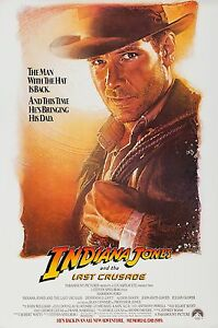 INDIANA JONES AND THE LAST CRUSADE (1989) ORIGINAL ADVANCE MOVIE POSTER - ROLLED