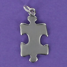Jigsaw Puzzle Piece Charm Sterling Silver 925 for Bracelet Autism Symbol Game