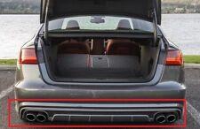 New Genuine AUDI A6 S6 Black Rear Platinum Grey Bumper Spoiler 4G0807521M1RR OEM