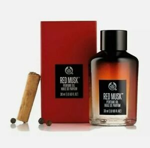 The Body Shop Red Musk Perfume Oil (30 ml) Huile De Parfum Brand New Boxed