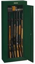 Green 8 Gun Security Cabinet Safe Storage Rifle Shotgun Steel Firearm Ammo Lock