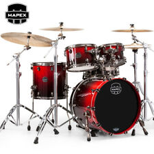 Mapex SATURN V MH Exotic Fusion 4-Piece Drum Set Shell Pack Cherry Mist Maple