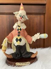 "The Mirella Collection Clown Figurine Ceramic Circus 10"" Vintage"
