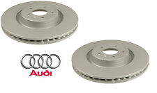 Audi A6 S5 Brake Disc Rotors Vented Pair Set of 2 Front Left & Right Genuine
