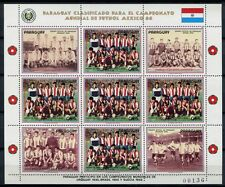 PARAGUAY 1986 Fußball WM Soccer Mexico 3983 Kleinbogen ** MNH
