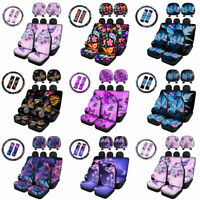 Womens Butterfly Car Seat Cover Combo Set 9/11Pack Auto Accessory Interior Decor