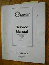 International Trans Ltd Sd 55/St Axle Service Shop Manual Maintenance Repair