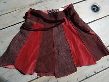 Jupe épaisse bordeaux différents tissus JEAN BOURGET Taille 4 ans