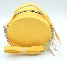 Stunning Yellow Croc Effect Round Ladies Handbag Croosbody Bag Women Primark Bag