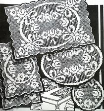 6170 Vintage AB RIBBONS & ROSES DOILIES (2) PATTERNS TO CROCHET (Reproduction)