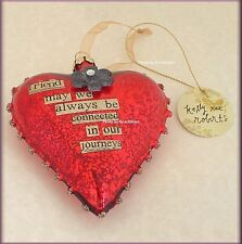 FRIEND GLASS HEART ORNAMENT BY KELLY RAE ROBERTS FREE U.S. SHIPPING