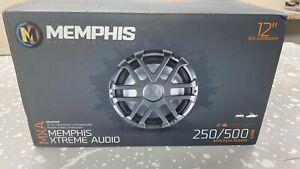 "Memphis Audio MXA1244 12"" 500w LED Marine Subwoofer Dual 4-ohm Sub RZR/ATV/UTV"