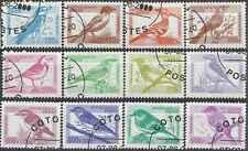 Timbres Oiseaux Bénin réf. Stampworld 1292/1303 o année 2000 lot 15382