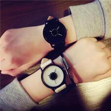 Fashion Lovers Men Women Leather Band Quartz Couple Fashion Analog Wrist Watch