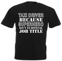 SUPERHERO TAXI DRIVER MEN'S T-SHIRT Cab Funny Christmas Fathers Day Gift for Dad