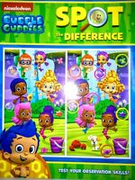 Nickelodeon Bubble Guppies Spot the Difference Activity Book Pre-K NEW!