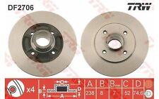 TRW Juego de 2 discos freno Trasero 238mm RENAULT MEGANE CLIO OPEL NISSAN DF2706