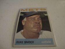 VINTAGE 1964 TOPPS DUKE SNIDER NEW YORK METS HOF SUPERSTAR BASEBALL CARD