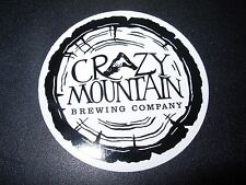 CRAZY MOUNTAIN BREWING CO mountain livin tree STICKER craft beer brewery decal