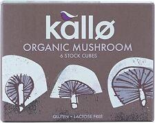 Kallo Organic champignon 6 Stock Cubes - 66 g