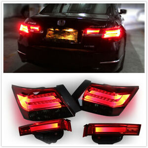 For Honda accord Red LED Taillight Rear Lamps Assembly 2008-2012 DN