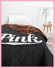 Exceptional Victoria Secret Pink BED IN A BAG Black Leopard COMFORTER SHEET PILLOW CASE  TWIN