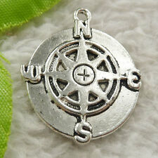80 pieces tibet silver compass charms 30x25mm #4645 free ship