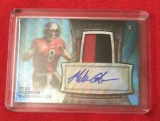 2013 Bowman Sterling Mike Glennon Blue Wave Rookie Auto And Jersey #48/125