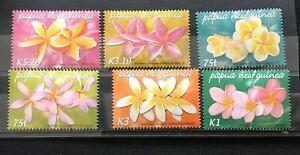 PAPUA 2006 Frangipani Orchids Flowers 6 stamps MNH PAP1110