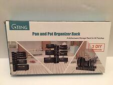 Gting  Pan & Pot Organizer Rack 3 DIY Methods Adjustable Stack 8 Plus Pans & Pot