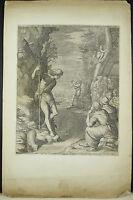 Engraving Raphael II Sadeler & Mariette Saint Jean Baptiste in the Desert C 1600