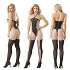 Sexy femmes lacets lingerie Transparent Sous-Vêtement G-string Nuisette pyjama