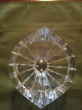 VINTAGE RARE ORREFORS Sweden Lead Crystal Candy Dish MARIN CUT Glass Bowl SIGNED