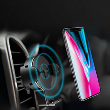 Qi Wireless Safe Charger Car Holder Charging Base For iPhone X 8/8Plus Samsung